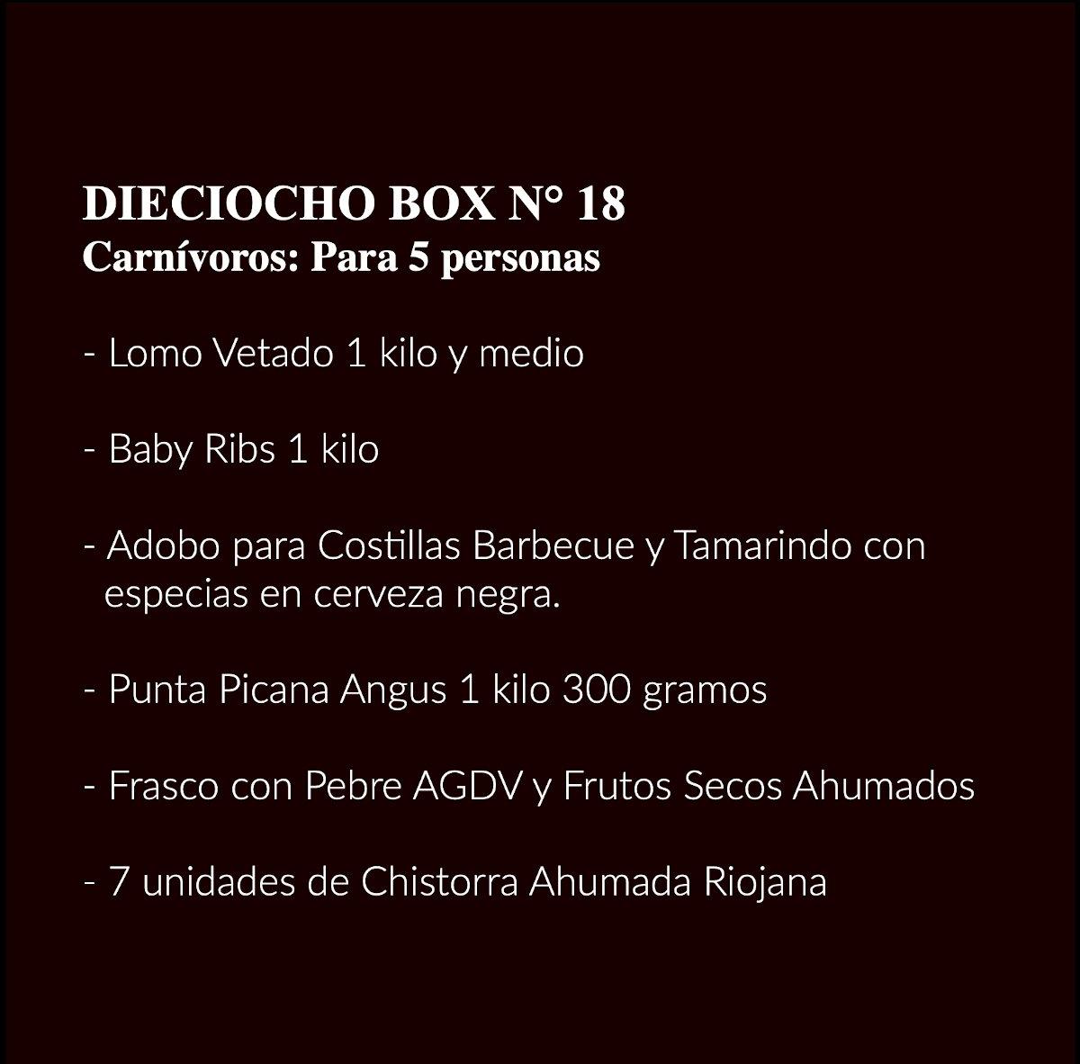 Carnivoros Box 18 Contenidos