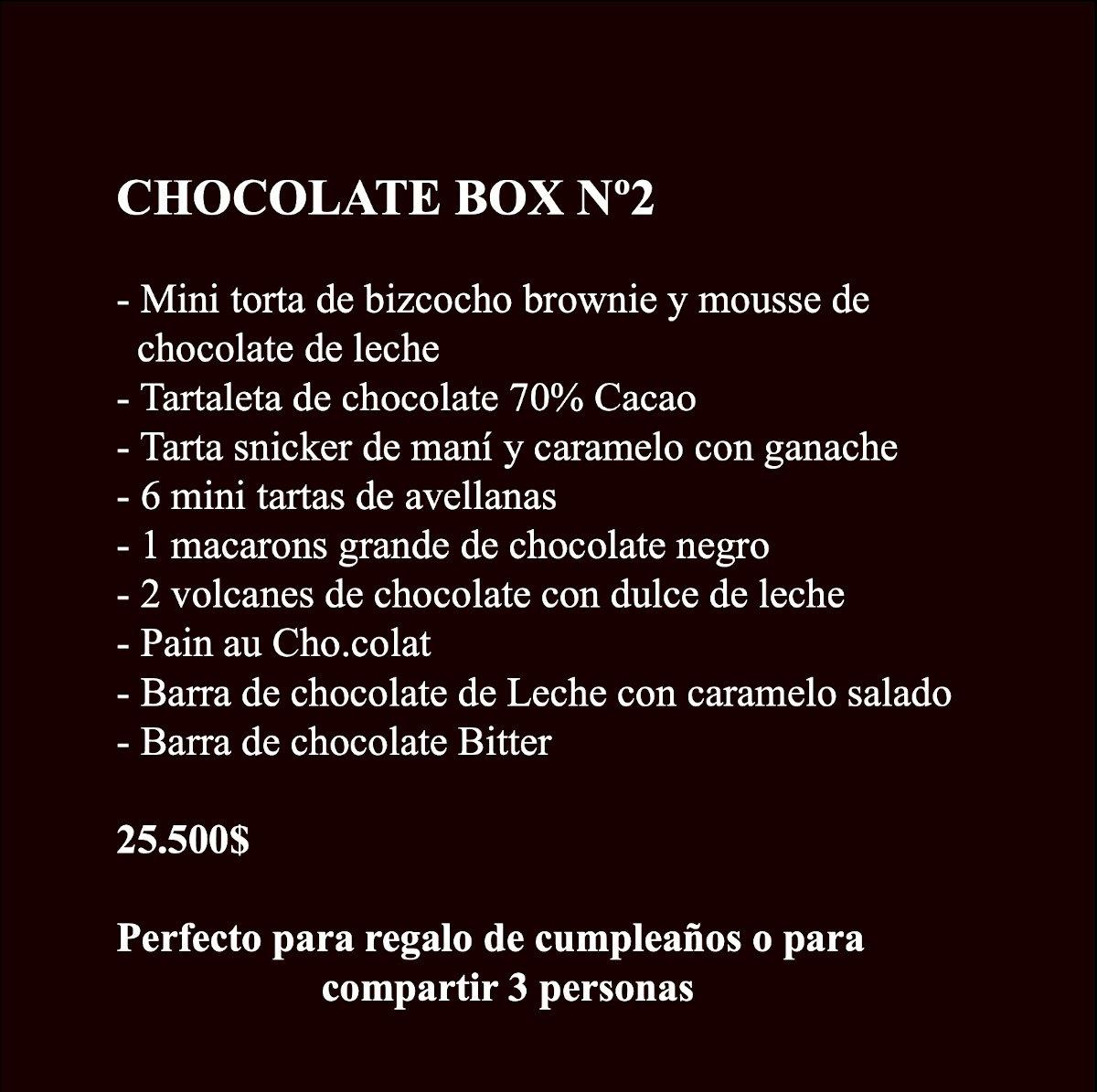 Chocolate Box 2 Contenido