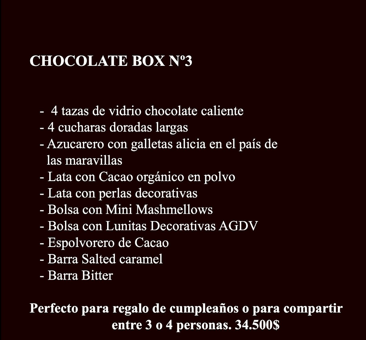 Chocolate Box 3 Contenido