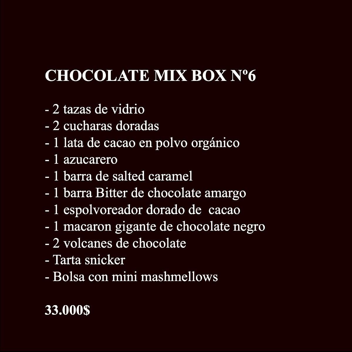 Chocolate Box 6 Contenido